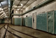 Underground bunker from cold war Stock Photos