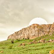 observatory in the crimean mountains - stock photo