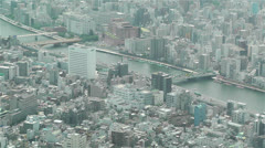 Tokyo Skytree Oshiage Aerial View to Tokyo 9 Stock Footage