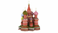 Stock Video Footage of Cathedral on the Red Square in Moscow, Russia