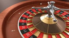 Casino roulette loop Stock Footage