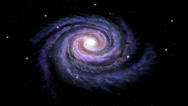 Stock Video Footage of Spiral Galaxy Milky Way