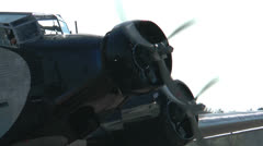 Hisoric Airplane JU 52 Closeup Stock Footage