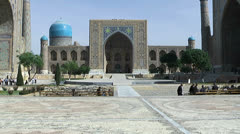 Registan Square in Samarkand - stock footage