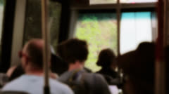 riding a bus at zion national park diffused - stock footage