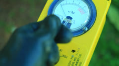 pov checking an area radiation - stock footage