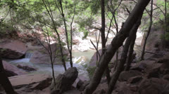 Virgin river in zion national park Stock Footage