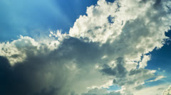 clouds and sun, time-lapse - stock footage