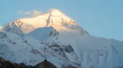 Mt Everest in sunset Stock Footage