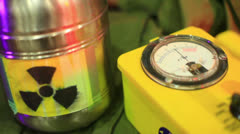 radiation detection detector - stock footage