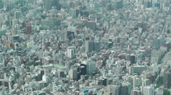 Tokyo Skytree Oshiage Aerial View to Tokyo 21 Stock Footage