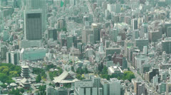 Tokyo Skytree Oshiage Aerial View to Tokyo 25 Stock Footage