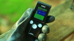soeks background radiation detection normal - stock footage