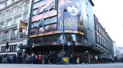 Les Miserables in London Stock Footage