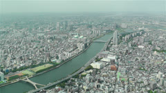 Tokyo Skytree Oshiage Aerial View to Tokyo 27 Stock Footage