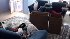 House move packing Stock Footage