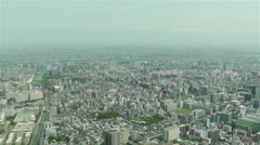 Tokyo Skytree Oshiage Aerial View to Tokyo 32 Stock Footage