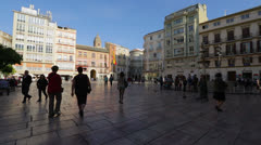 Malaga Constitucion Square Stock Footage