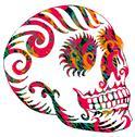 Tattoo tribal mexican skull vector art Stock Illustration