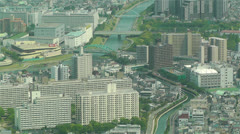 Tokyo Skytree Oshiage Aerial View to Tokyo 33 Stock Footage