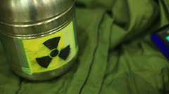 Actual radiation detection soeks geiger counter Stock Footage
