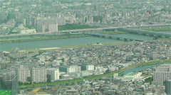 Tokyo Skytree Oshiage Aerial View to Tokyo 36 Stock Footage