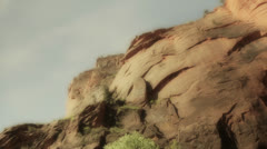 Tall cliffs in zion national park utah Stock Footage