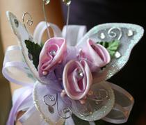 Butterfly Wrist Corsage - stock photo