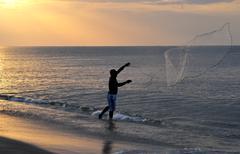 Young fisherman Stock Photos