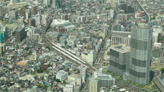 Tokyo Skytree Oshiage Aerial View to Tokyo 48 Stock Footage