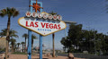 Welcome to Fabulous Las Vegas Nevada Sign Strip USA Iconic Tourists Attraction Footage