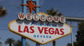 Famous Welcome to Fabulous Las Vegas Nevada Sign, Las Vegas Strip, USA, by day Footage