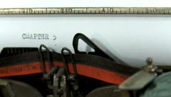 Typing a text on an old typewriter: Chapter 5 Stock Footage