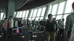Tokyo Skytree Oshiage Floor 350 Stock Footage