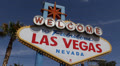 Welcome to Fabulous Las Vegas Nevada Sign Strip US Famous Gambling Games Symbol Footage