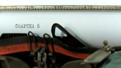 Typing a text on an old typewriter: Chapter 6 Stock Footage
