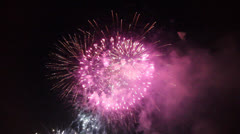 Fireworks 30 sec - stock footage