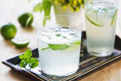 Lime with Soda juice - stock photo