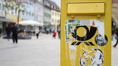 German post box Stock Footage