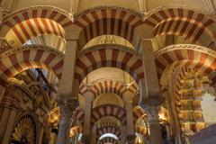 Interior of mezquita-catedral, cordoba, spain Stock Photos