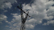 Stock Video Footage of Power Pylon 03