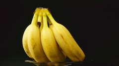 Bunch of bananas - stock footage