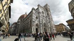 The Duomo Cathedral in Florence  Stock Footage