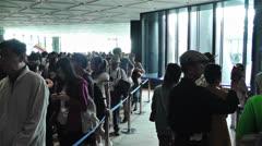 Tokyo Skytree Oshiage Waiting Line 3 Stock Footage