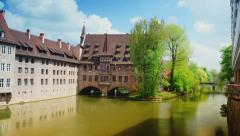 Hospice of the Holy Spirit , Nuremberg, time lapse Stock Footage