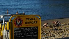 Noosa main beach Stock Footage