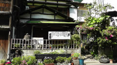 Traditional Japanese House in Tokyo Asakusa Japan Stock Footage