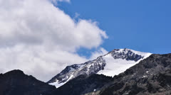 Mount with clouds time lapse Stock Footage