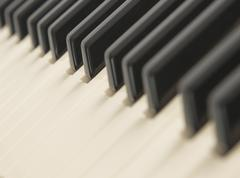 Background of a piano keyboard Stock Photos