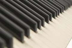 background of a piano keyboard - stock photo